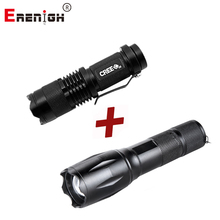 LED Adjustable Focus Mini Flashlight CREE Q5 2000 Lumens+Rechargeable Flashlight XML T6 4000 lumens 18650 Battery 5 Modes Lights