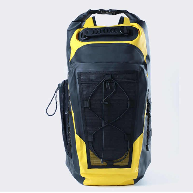 30L Ransel Tahan Air Tas Renang Tas Bahu Tali Mengambang Karung untuk Berlayar Mengapung Perahu Rafting