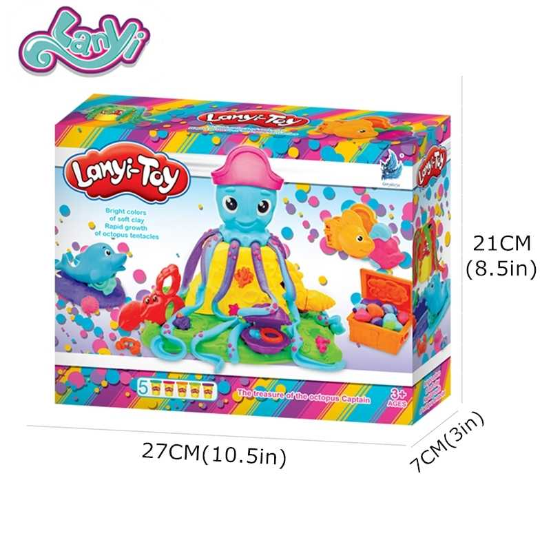 Lanyitoys Original Modeling Clay Octopus shape New hot sale glue for slimes fluffy Slime Clay plasticine Kids Toys for Children