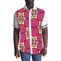 Clothig обычай мужчин африканских Dashiki рубашка печати батик и белые хлопчатобумажные ткани лоскутное коротким рукавом мода африке одежда