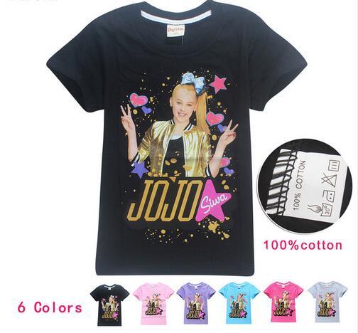 041e4fee9b87d 4-14y JOJO SIWA Cotton T Shirts for Girls 2018 Summer Short Sleeve Tshirt  for Kids Baby Girl T Shirt Teens Tops Children Clothes