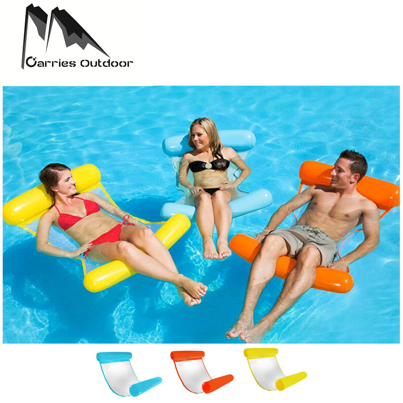 все цены на ARRIES Summer Water Sports Hammock Inflatable Beach Swimming Float Lounger Chair Swimming Pool Accessories