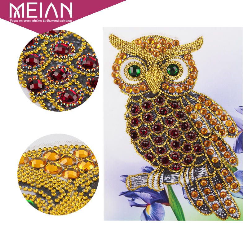 Meian,OwlDIY Diamond Painting Special Shaped Drill Diamond Embroidery Mosaic Sale,Chinese Christmas Picture Accessories DecorMeian,OwlDIY Diamond Painting Special Shaped Drill Diamond Embroidery Mosaic Sale,Chinese Christmas Picture Accessories Decor