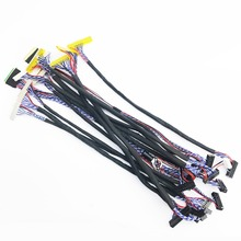 7-27inch universal LVDS cable kit 14pcs/lot for LCD LED screen цена