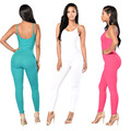 Womens Sexy Backless Jumpsuit Overalls Sleeveless Rompers Summer Spaghetti Strap Jumpsuits Playsuit Bodysuit YF253