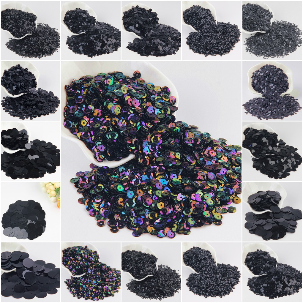 Price per 20g or 100g Sequins PET Round Cup Shiny Size 8mm - Dance Costumes