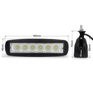 Image 2 - 2 cái Safego ánh sáng xe thanh 18 Wát làm việc ánh sáng 24 V Xe Máy Lái Xe Off road Tractor đèn xe tải đèn 12 V led công việc nhẹ