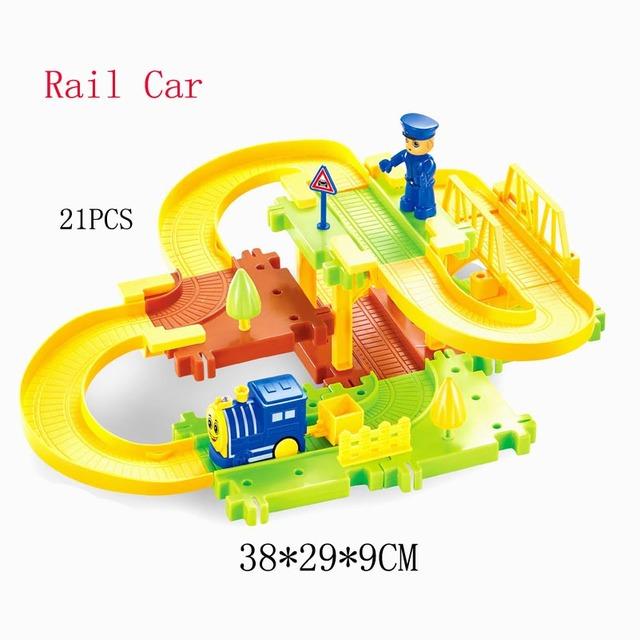 Thomas tren de juguete cars nuevo producto 23 unids/set niños 3d de inteligencia bloques de construcción de pista de tren eléctrico eléctrico