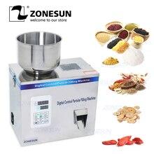 ZONESUN תה מילוי מכונה 1 100g תה במשקל מכונה רפואת תבואה זרעי פירות מלח עצבים מכונת אריזת אבקה מילוי