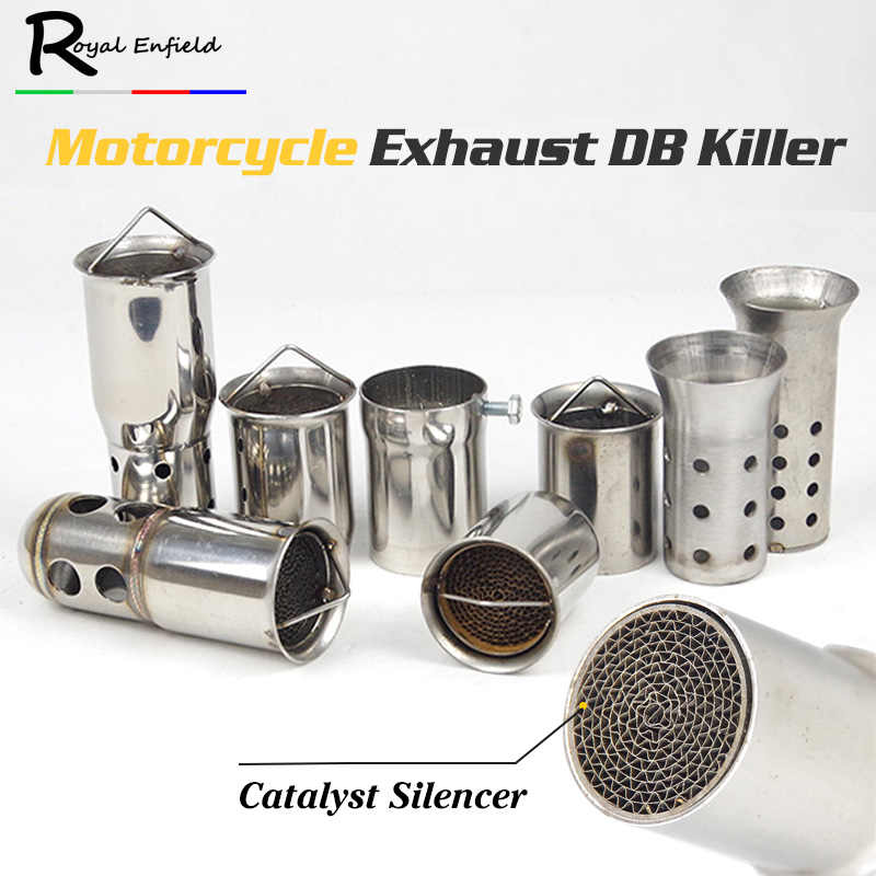 Nieuwe Collectie Universal 51 Mm 60 Mm Front Mid End Katalysator Db Killer Voor Motorfiets Uitlaatdemper Silencer Noise Sound eliminator