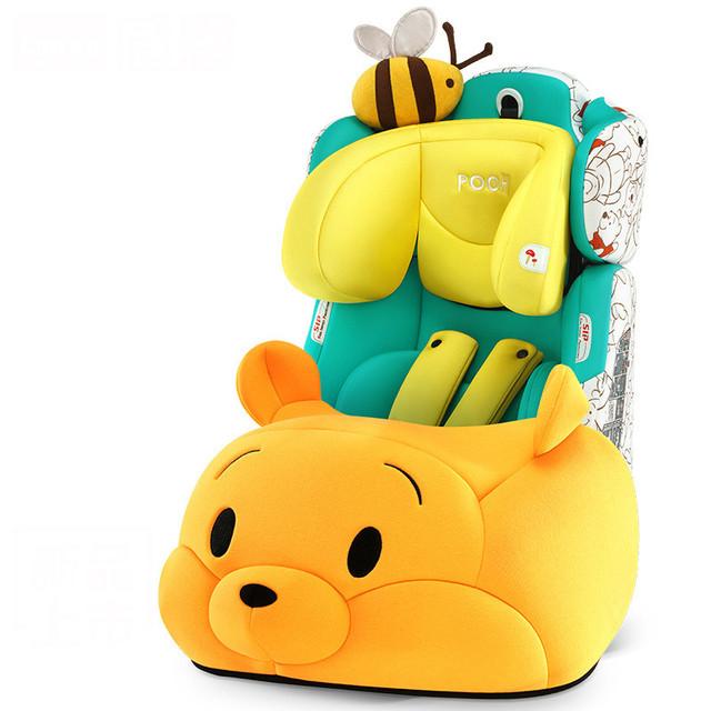 Estilo Bonito dos desenhos animados Do Assento de Carro Do Bebê Autunm Inverno Super Quente Auto Assento Do Bebê portátil cadeira de Criança Assento de Segurança para Crianças Engrosse À Prova de Choque C01