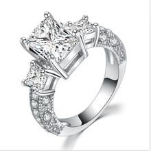 Новые популярные серебряные классические кольца для женщин, обручальное кольцо для помолвки, кольца с кубическим цирконием, женские модные ювелирные изделия