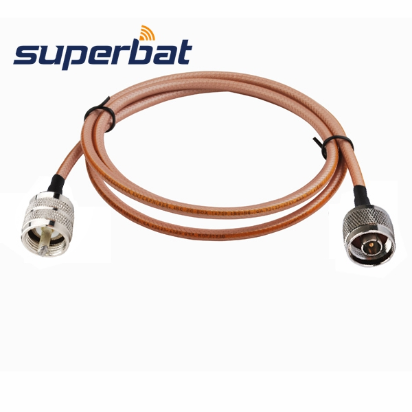 Superbat N Male Plug Straight To UHF Male Straight Connectors Adapter Pigtail Cable RG400 100cm Cable Assembly