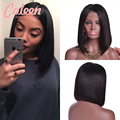 Short Human Hair Bob Wigs Peruvian Full Lace Human Hair Wigs With Baby Hair Bob Wig Straight Bob Lace Front Wigs For Black Women