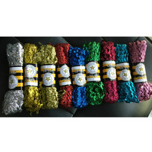 15Yards/lot Beautiful Metallic Glittery Ric Rac Ribbon Zig Zag Trimming Lace Ribbons Wave Cords Threads DIY Handmade Material(China)