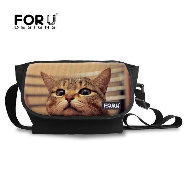 FORUDESIGNS nueva moda animal mochilas escolares para los adolescentes niñas mochilas 3d animales gatos impresión mochilas mujeres bolsa de viaje