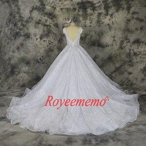 Image 3 - Vestido דה Noiva תחרה נוצצת חתונה שקוף למעלה מיוחד תחרה חתונה שמלת תפור לפי מידה מפעל סיטונאי מחיר כלה שמלה
