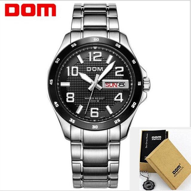 El nuevo dom hombres de moda casual para hombre relojes de primeras marcas  de lujo de c6fb9a53f644