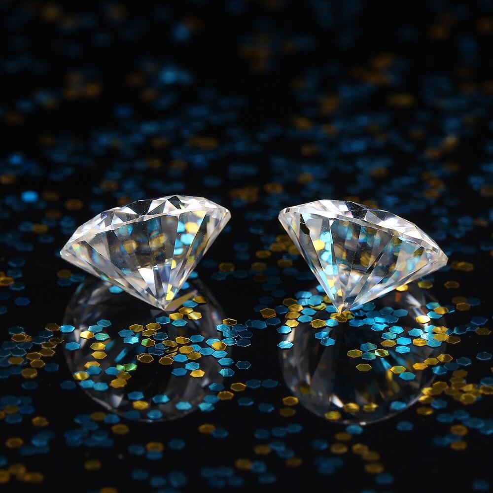 DovEggs 1 Pièce Diamètre 6.5mm F Couleur Moissanite Lâche Pierre Coeurs et Flèches Cut Moissanite Diamant pour Fabrication de Bijoux