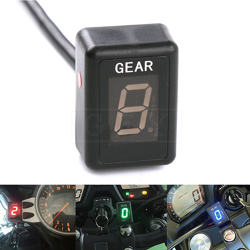 Motorcycle LCD Electronics 6 Speed 1-6 Level Gear Indicator Digital Gear Meter For Yamaha Tmax500 Tmax530 Tmax 500 530 FZR 1000 motorcycle lcd electronics 6 speed 1 6 level gear indicator digital gear meter for harley touring road king electra street glide