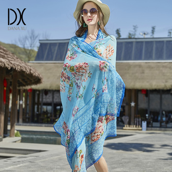 Square Silk Scarf | Silk Bandana Top Quality Beach Blankets Soft Cashmere Winter ScarfWarm Square Plaid Shawl Womens Scarves Hijab Foulard