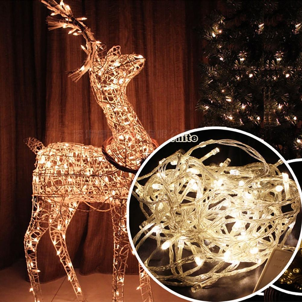 LumiParty Fair Lights 7 Colors 10M 100 LEDs String Light Decoration Lamps Christmas Wedding Party Outdoor Lighting Navidad