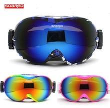 SOARED Men Women Double Anti-fog Snowboarding Skiing Goggles Ski Snow Glasses Big Spheral Lens Motocross Goggles Winter Sports E