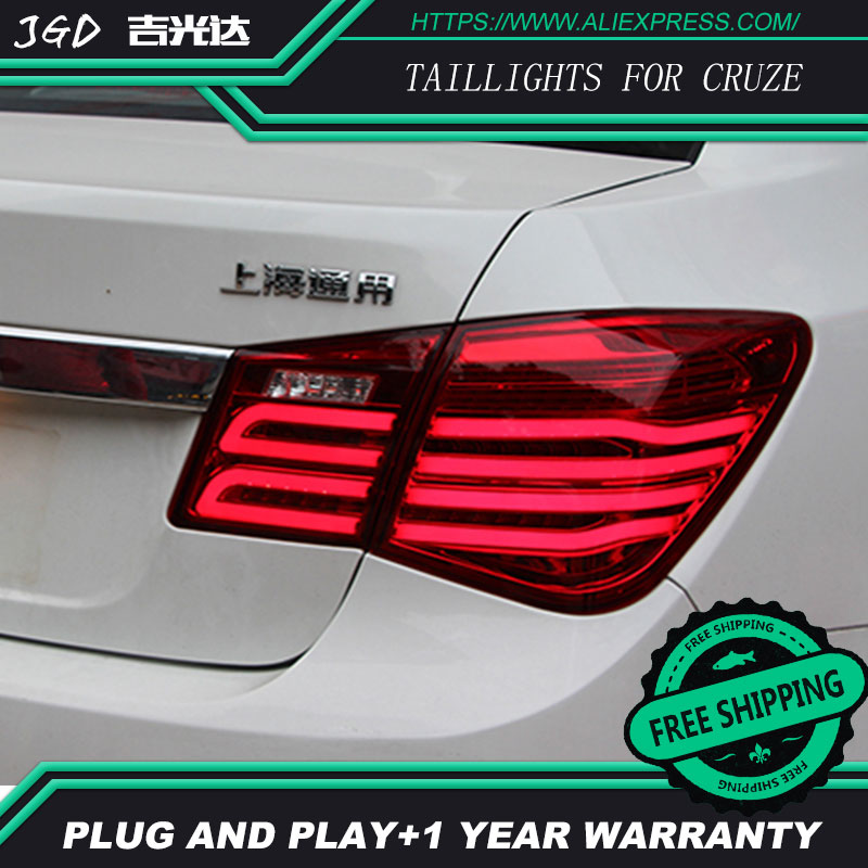 Car Styling tail lights for Chevrolet Cruze 2009-2013 taillights LED Tail Lamp rear trunk lamp cover drl+signal+brake+reverse car styling tail lights for hyundai santa fe 2007 2013 taillights led tail lamp rear trunk lamp cover drl signal brake reverse