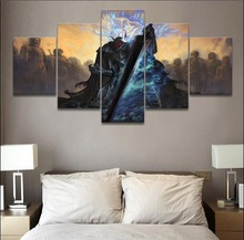 Animation death knight 5 Pieces HD Print PaintingArtwork Modern Home Decor Picture Painting On Canvas Room Decoration Artwork
