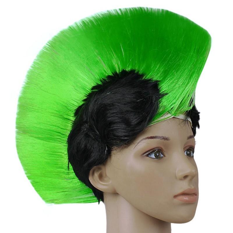 Hot Rainbow Mohawk Hair Wig Fancy Costume Punk Rock Wigs Halloween Cosplay Party 3