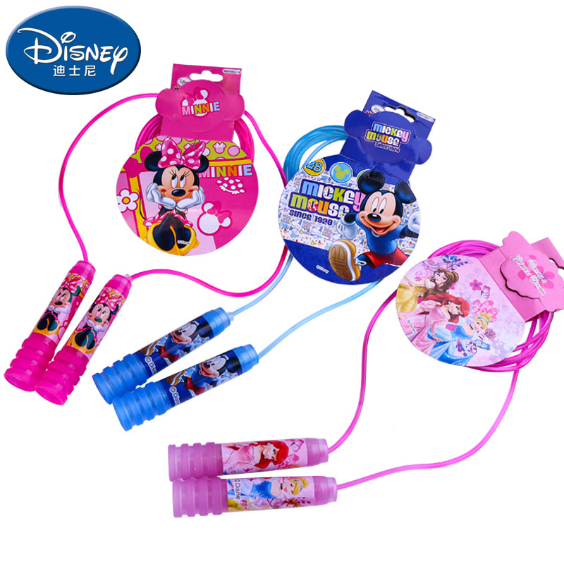 2.4 Meters MICKY FROZEN SOFIA Toy Swings Rope Fitness Speed Jump Rope Children Cartoon Spiral Handle Crystal Jump Rope