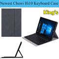 Hot Russian/English/Spanish/ Other Language 10.1inch 100% Original For CHUWI Hi10 Wireless Bluetooth Keyboard Case Free 4 gifts