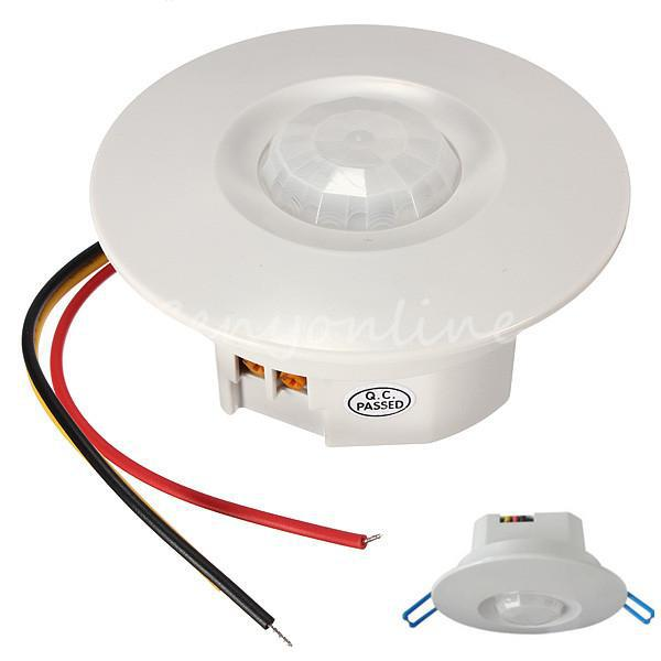 bipolar design three wire 360 degree mini recessed pir ceiling rh aliexpress com