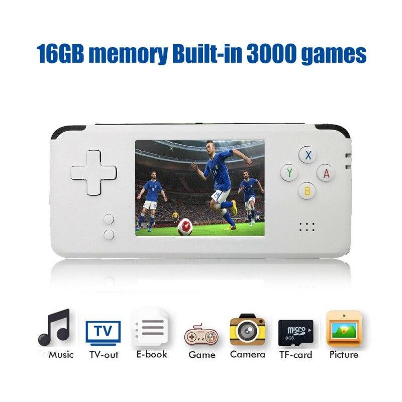 Console de jeu vidéo portable rétro 16 GB jeu vidéo rétro lecteur de jeu portable intégré 3000 jeux chauds