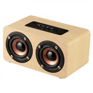 Image 2 - W5 10W 52 MILLIMETRI Doppio Corno Di Legno 4.2 Speaker Bluetooth con AUX Audio di Riproduzione e di Interfaccia Micro USB per il Telefono Mobile/PC