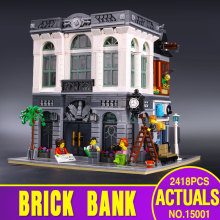 LEPIN 15001 2413Pcs Creator Brick Bank Model Building Kids Minifigure Blocks Bricks Toy Compatible With  10251 Gift