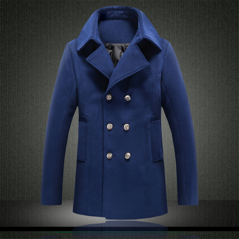High Quality Slim Fit Pea Coat Men-Buy Cheap Slim Fit Pea Coat Men