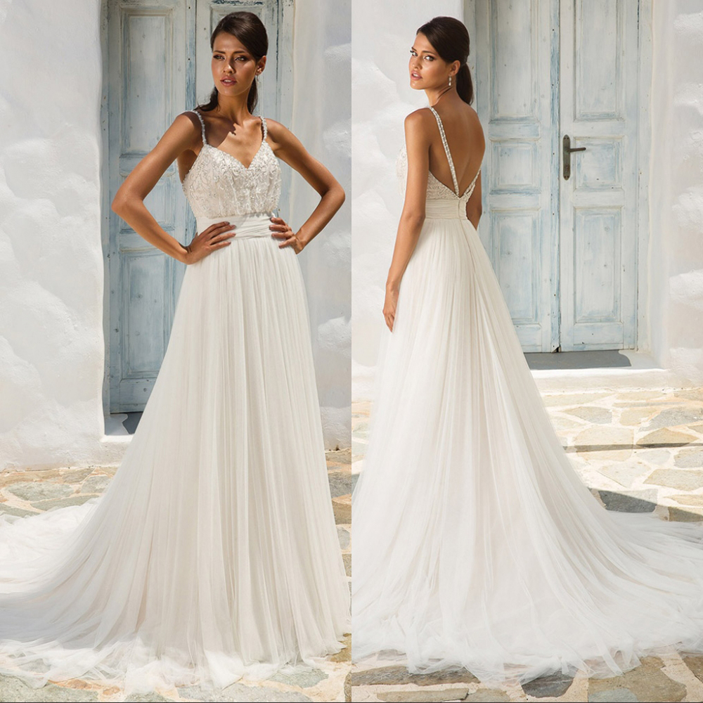 2019 new arrival Luxury lace Crystal Sashes Wedding Dress Sexy backless Bridal Gown with Court Train