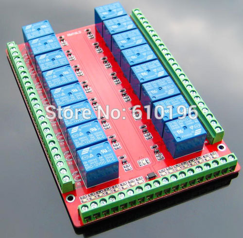 16 channel 5V Relay Module Low Level Triggered Double PCB Bidirectional Terminal 3PCS/LOT16 channel 5V Relay Module Low Level Triggered Double PCB Bidirectional Terminal 3PCS/LOT
