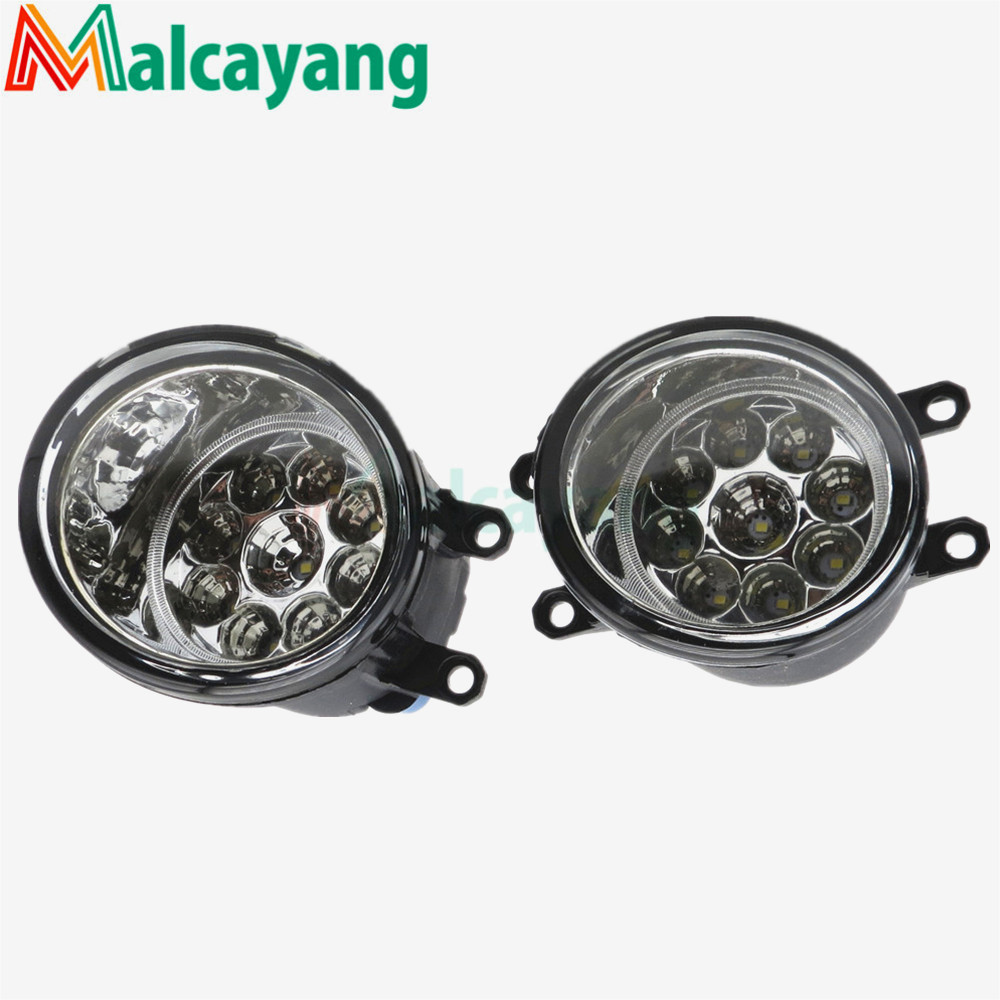 Front Bumper High Brightness LED Fog Lights Car styling For toyota AVENSIS 2003-2009 1 set (Left + right) 81210-06052 for lexus rx gyl1 ggl15 agl10 450h awd 350 awd 2008 2013 car styling led fog lights high brightness fog lamps 1set