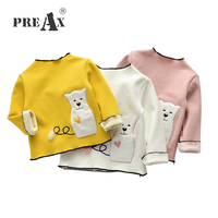 Autumn Winter Kids Clothes Long Sleeve T Shirts Cartoon Character Grils Warm Bottoming T Shirts Girls