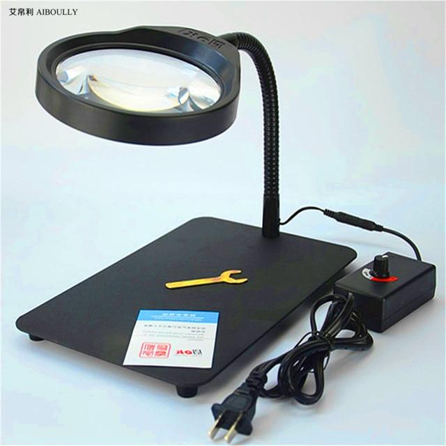 c29f1d0840e6e Hand-Made Equipamentos 10 Vezes de Ampliação Lupa Com Luzes LED Assistir  Reparação Telefone Ferramenta