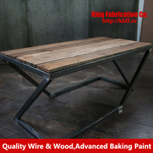 American wrought iron dining table solid wood furniture Restaurant Lounge