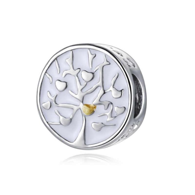 Pandora bijoux arbre de vie contas para fazer jóias bracciale francês grânulo de prata perfumes mujer originales pulseira encantos