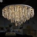 Европейский современный минималистичный светильник для гостиной хрустальная лампа для спальни светодиодная кристальная круглая потолочн...