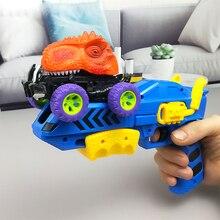 Выталкивание игрушечный динозавр машина травоядные динозавры серии модель динозавр детские игрушки пистолет