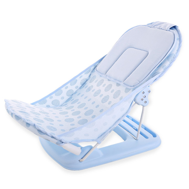 bath chair for baby tufted dining chairs with nailheads foldable tub bed pad portable shelf shower nets newborn seat infant bathtub support