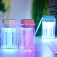 Mini 7 Colors LED Light USB Air Humidifier Ultrasonic Rainbow Lamp Essential Oil Aroma Diffuser Home