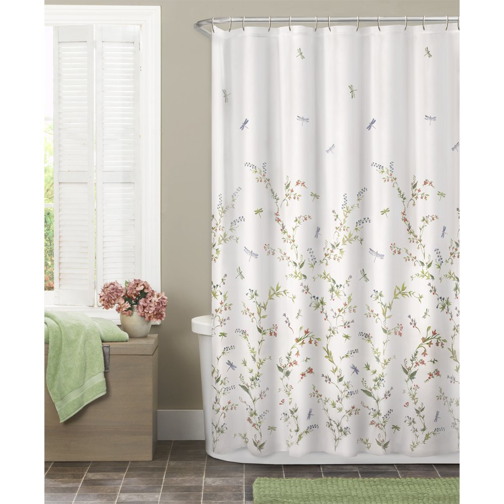 Maytex Dragonfly Garden Semi Sheer Fabric Shower Curtain In Shower Curtains  From Home U0026 Garden On Aliexpress.com | Alibaba Group