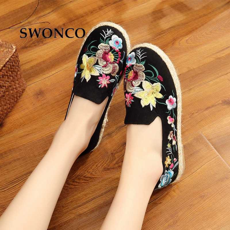 Shoes Canvas Loafers Woman Flats Shoe